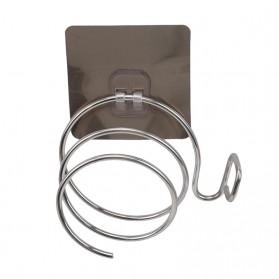 YongYa Rak Holder Hair Dryer Spiral Wall Mounted - FH459820 - Silver