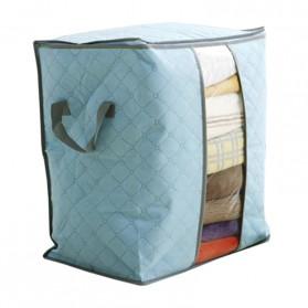 Urijk Kantong Organizer Penyimpanan Pakaian Fabric Storage Box - M1466 - Blue