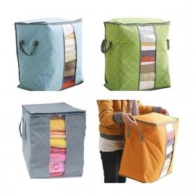 Urijk Kantong Organizer Penyimpanan Pakaian Fabric Storage Box - M1466 - Blue - 2