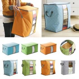 Urijk Kantong Organizer Penyimpanan Pakaian Fabric Storage Box - M1466 - Blue - 3