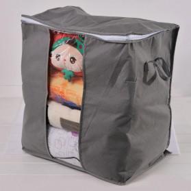 Urijk Kantong Organizer Penyimpanan Pakaian Fabric Storage Box - M1466 - Blue - 4