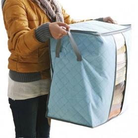 Urijk Kantong Organizer Penyimpanan Pakaian Fabric Storage Box - M1466 - Blue - 6