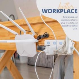 TCMAKE Rak Gantungan Hook Wall Hanger Organizer Adhesive 6x6cm 10 Pair - TC21 - Transparent - 7