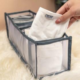Junejour Kotak Sekat Pembatas Pakaian Closet Organizer Storage Bra Box 6 Grid - M1467 - Gray - 5