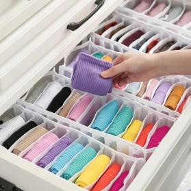 Junejour Kotak Sekat Pembatas Pakaian Closet Organizer Storage Bra Box 6 Grid - M1467 - Gray - 8