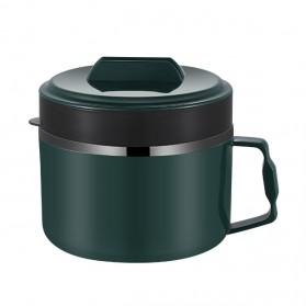 GKID Kotak Makan Mangkok Lunch Box Stainless Steel Instant Noodles Portable Bowl Japanese Tableware 1500ml - 001 - Green
