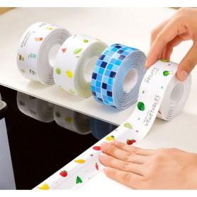 SPG Sticker Anti Jamur Self-adhesive Anti-mold Waterproof 3.7CM x 3.2M - CN1333 - Blue