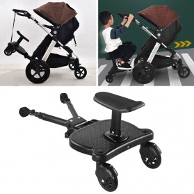 SPMART Stroller Bayi Tambahan Pedal Adapter Second Trolley Auxiliary Trailer Scooter - GCY-W003 - Black - 2