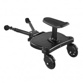 SPMART Stroller Bayi Tambahan Pedal Adapter Second Trolley Auxiliary Trailer Scooter - GCY-W003 - Black - 6