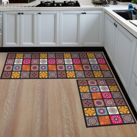 YOMDID Keset Dapur Anti-slip Living Room Kitchen Balcony Rug 40x120cm - TO21E - Red