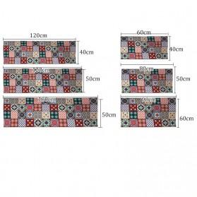 YOMDID Keset Dapur Anti-slip Living Room Kitchen Balcony Rug 40x120cm - TO21E - Red - 4