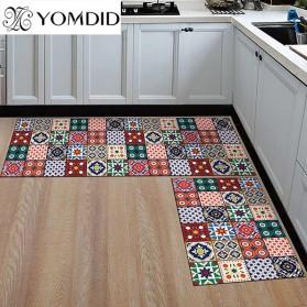YOMDID Keset Dapur Anti-slip Living Room Kitchen Balcony Rug 40x120cm - TO21E - Brown