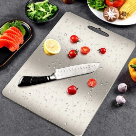 YOMDID Talenan Multifungsi Cutting Board Stainless Steel 250 x 360 mm - KG03Q - Silver