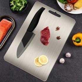 YOMDID Talenan Multifungsi Cutting Board Stainless Steel 250 x 360 mm - KG03Q - Silver - 3