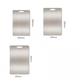 YOMDID Talenan Multifungsi Cutting Board Stainless Steel 250 x 360 mm - KG03Q - Silver - 6