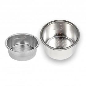 Dalinwell Wadah Penyaring Kopi Non Pressurized Basket 2 Cup 51mm for Breville Delonghi Krups - DL-01 - Silver - 5
