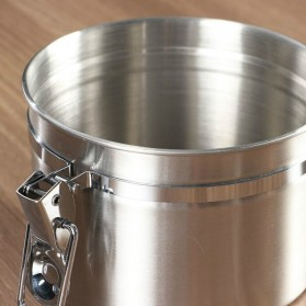 Seluna Tempat Kopi Gula Susu Coffee Bean Container Stainless Steel 1500ML - KFMFG01 - Silver - 10