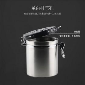 Seluna Tempat Kopi Gula Susu Coffee Bean Container Stainless Steel 1500ML - KFMFG01 - Silver - 4