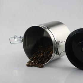 Seluna Tempat Kopi Gula Susu Coffee Bean Container Stainless Steel 1500ML - KFMFG01 - Silver - 9