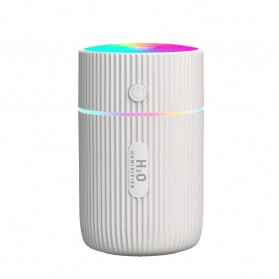 DIOZO Marquee Air Humidifier Aromatherapy Oil Diffuser Colorful Lights 220ml - LX06 - White - 2