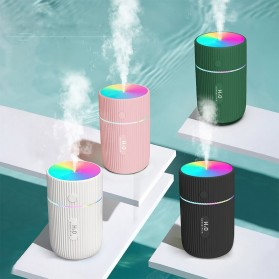 DIOZO Marquee Air Humidifier Aromatherapy Oil Diffuser Colorful Lights 220ml - LX06 - White - 3