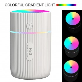 DIOZO Marquee Air Humidifier Aromatherapy Oil Diffuser Colorful Lights 220ml - LX06 - White - 5