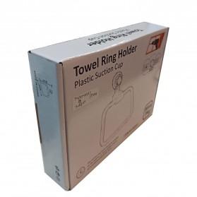 KLX Gantungan Handuk Bathroom Hanger Towel Holder Ring Strong Suction - KLA1834 - Black - 9
