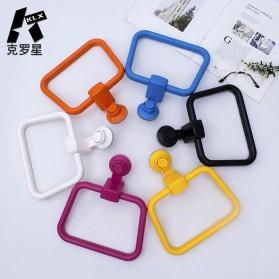 KLX Gantungan Handuk Bathroom Hanger Towel Holder Ring Strong Suction - KLA1834 - Black - 3