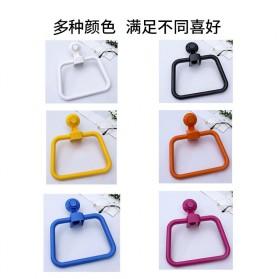 KLX Gantungan Handuk Bathroom Hanger Towel Holder Ring Strong Suction - KLA1834 - Black - 4