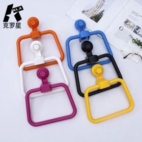 KLX Gantungan Handuk Bathroom Hanger Towel Holder Ring Strong Suction - KLA1834 - Black - 5