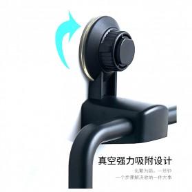 KLX Gantungan Handuk Bathroom Hanger Towel Holder Ring Strong Suction - KLA1834 - Black - 7