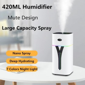 3LIFE Air Humidifier Aromatherapy Oil Diffuser LED Backlight 420ml - 4203L - White