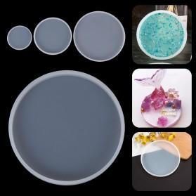 HiResin Cetakan Epoxy Resin Silikon Casting DIY Tray Coaster Handmade Craft 14cm - SL14 - Pink