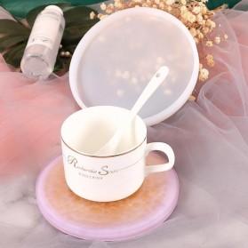HiResin Cetakan Epoxy Resin Silikon Casting DIY Tray Coaster Handmade Craft 14cm - SL14 - Pink - 3