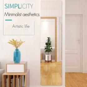 Aksesoris Makeup Lainnya - Homye Cermin Make Up Stiker Dinding Mirror Paste Wall Mounted DIY 22x22cm 4 PCS - HM30