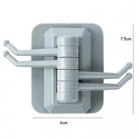 Wu Fang Hanger Gantungan Dinding Kamar Mandi Dapur Serbaguna - A602 - White - 10