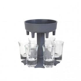 SIRF Dispenser & Holder Gelas Minuman Party 6 Shot Glass - SCD-6 - Gray - 2