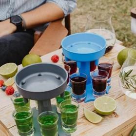 SIRF Dispenser & Holder Gelas Minuman Party 6 Shot Glass - SCD-6 - Gray - 3