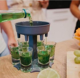 SIRF Dispenser & Holder Gelas Minuman Party 6 Shot Glass - SCD-6 - Gray - 4