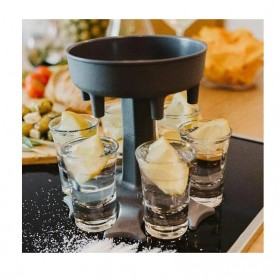 SIRF Dispenser & Holder Gelas Minuman Party 6 Shot Glass - SCD-6 - Gray - 5