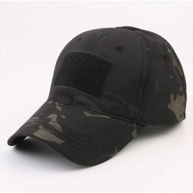 GUMAO Topi Mesh Baseball Army Look Cap with Velcro - PLY-CAP-01 - Midnight Black