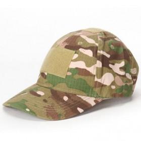 GUMAO Topi Mesh Baseball Army Look Cap with Velcro - PLY-CAP-01 - Camouflage