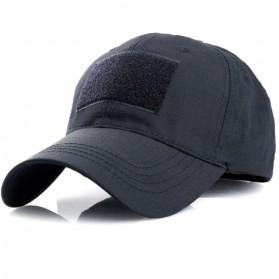 GUMAO Topi Mesh Baseball Army Look Cap with Velcro - PLY-CAP-01 - Black