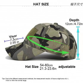 GUMAO Topi Mesh Baseball Army Look Cap with Velcro - PLY-CAP-01 - Black - 3