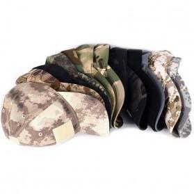 GUMAO Topi Mesh Baseball Army Look Cap with Velcro - PLY-CAP-01 - Black - 5