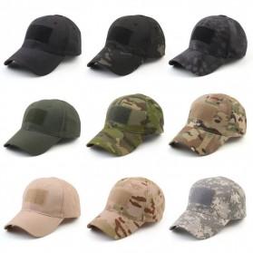 GUMAO Topi Mesh Baseball Army Look Cap with Velcro - PLY-CAP-01 - Black - 6