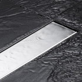 OLOEY Lubang Air Lantai Kamar Mandi Hidden Floor Drain Stainless Steel - Q2 - Silver