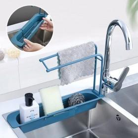 YOKEIT Rak Saring Serba Guna Tempat Cuci Piring Sink Drain Shelf - QNPO - White - 2