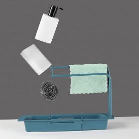 YOKEIT Rak Saring Serba Guna Tempat Cuci Piring Sink Drain Shelf - QNPO - White - 3