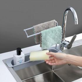 YOKEIT Rak Saring Serba Guna Tempat Cuci Piring Sink Drain Shelf - QNPO - White - 4